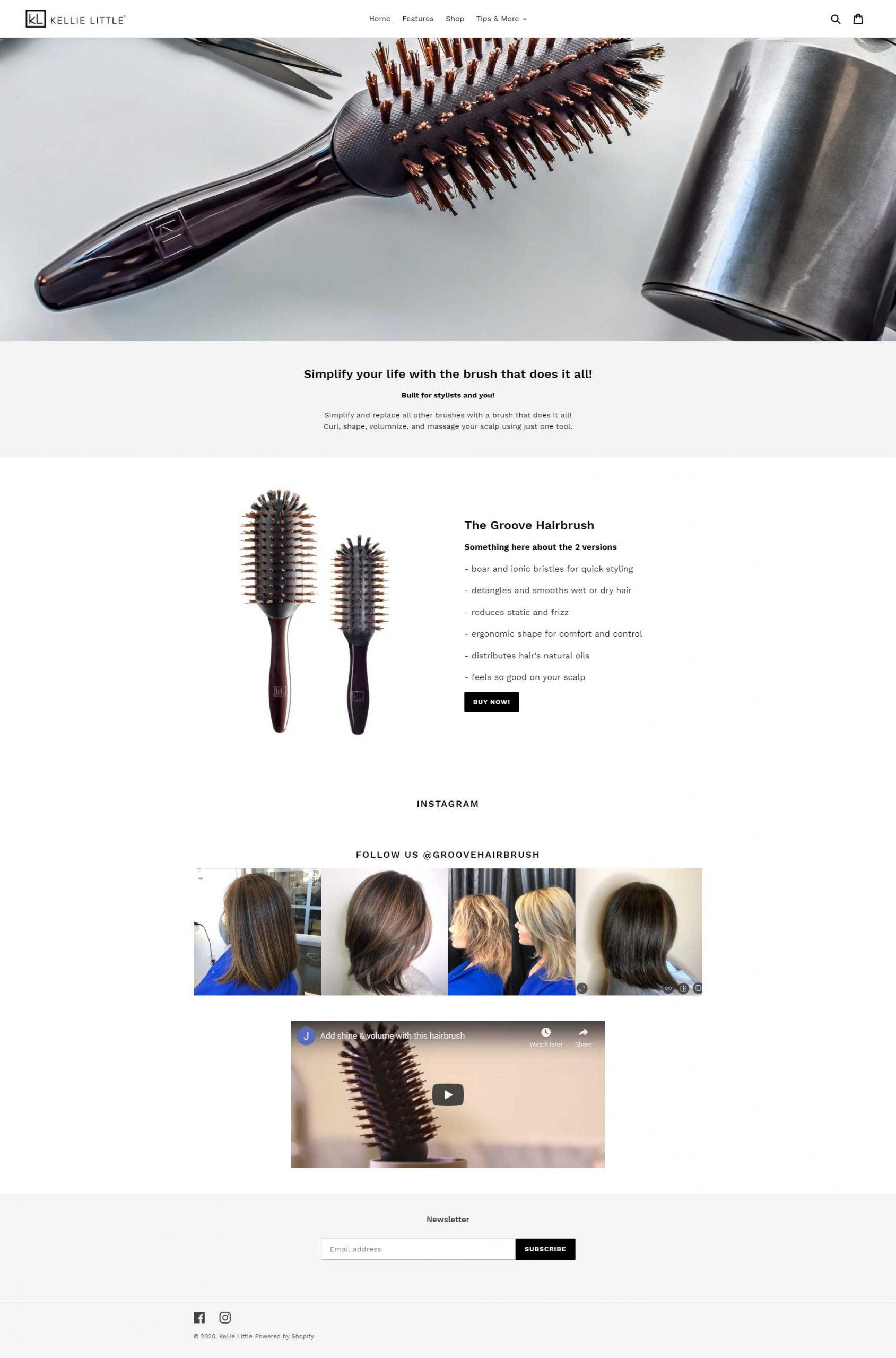 The Groove Hairbrush