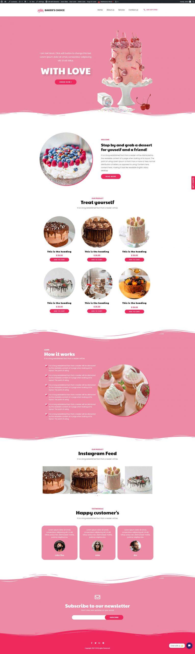 Baker choice cake