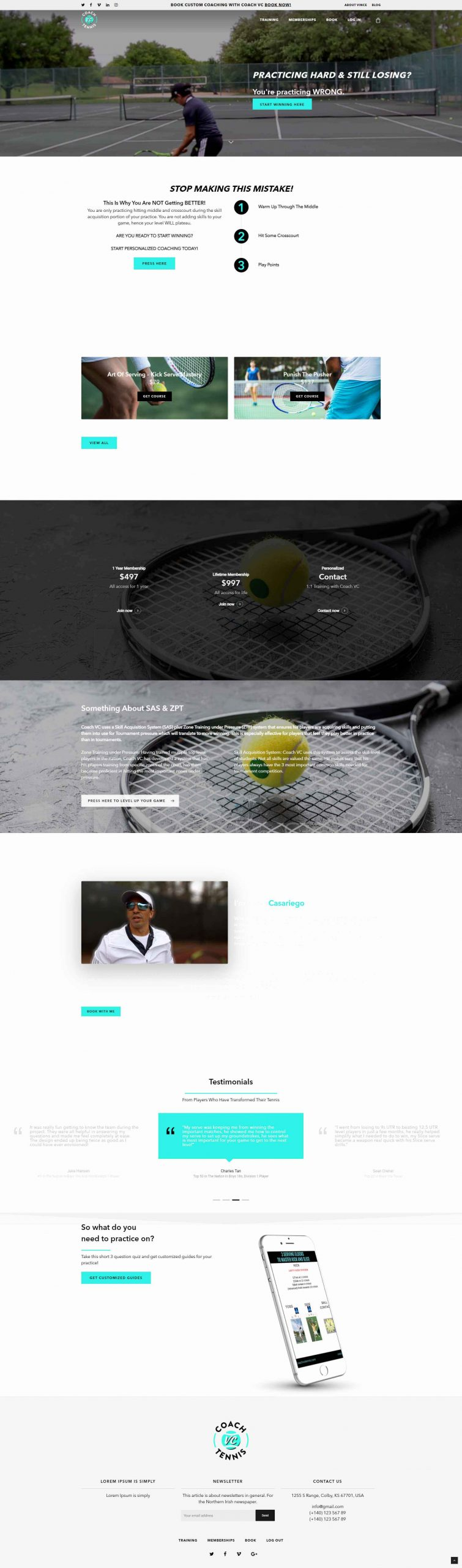 Coach vc tennis
